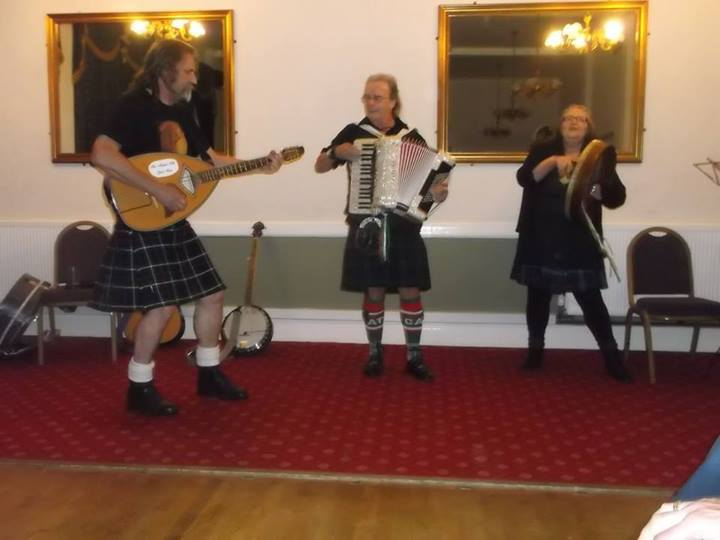Folk music being performed